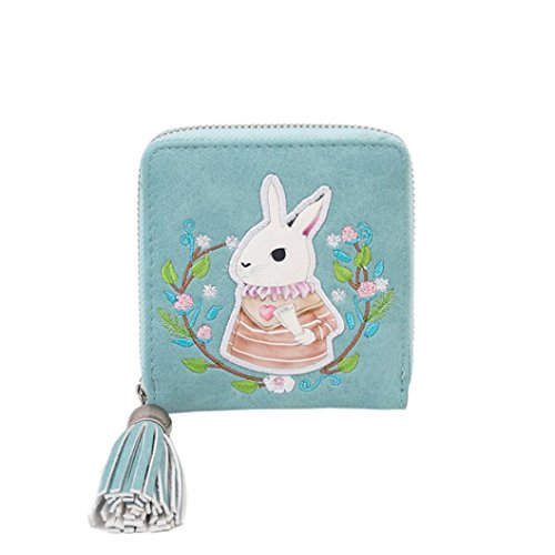 Price comparison product image Gift ! Sinwo Cute Small Mini Wallet Holder Zip Coin Purse Clutch Handbag Womens Grils (Blue)