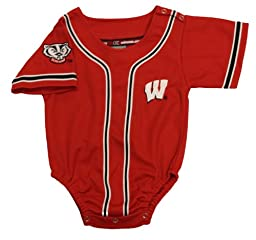 Wisconsin Badgers Red with Black Stripes Baby Romper (18-24 Months)