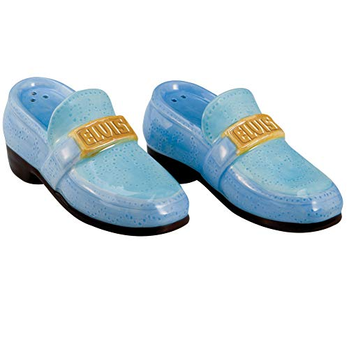 (Elvis Blue Suede Shoes Salt And Pepper Shaker Set - 4