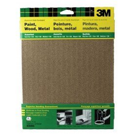 4 Pack Of 3M 9005NA 9-Inch by 11-Inch Aluminum Oxide Sandpaper, Assorted