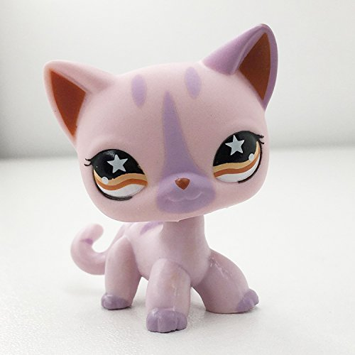 LPS Shorthair #933 Purple Red Eyes Cat Littlest Pet Shop Collector Toy Collectible Replacement Single (Littlest Pet Shop Collectors)