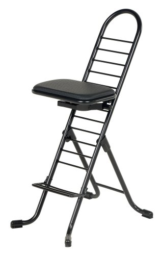 Vestil CPRO-600 Ergonomic Worker Chair, 220 lb. Capacity, 14 x 9 Seat, 13 – 34 Height Range