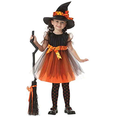 Slocyclub Child Cute Fairytale Witch Party Costume for Age 3-9