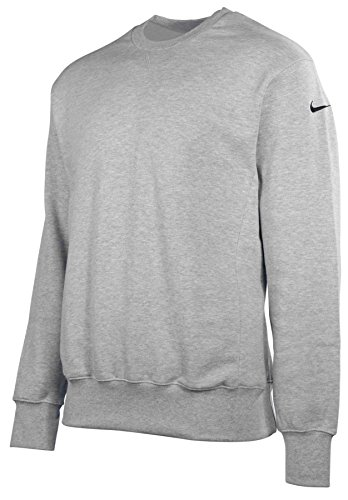 Nike Men's Core Crew Neck Sweatshirt-Heather Gray-2XL