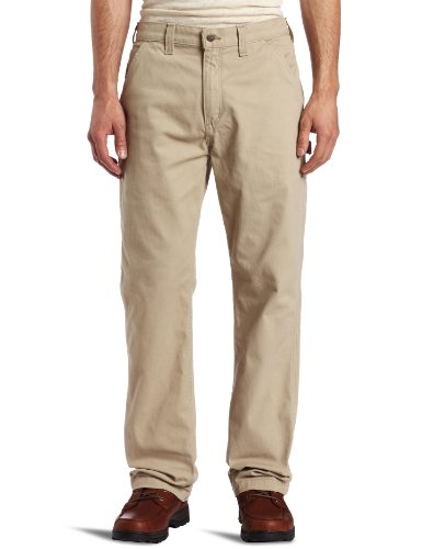 Carhartt Men's Washed Twill Dungaree Relaxed Fit,Field Khaki,38 x 34 (Live Mechanics Clothes)