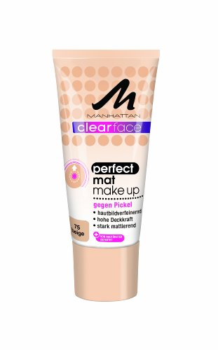 Manhattan CF Perfect Mat Make-Up 75, 1er Pack (1 x 25 ml)