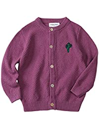 Toddler Girl Boy Solid Sweater Cardigan Button Down Knit Outerwear