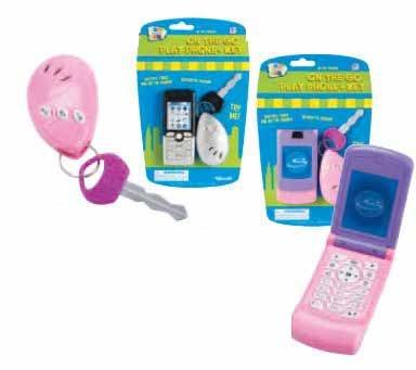 ¡Gran los niños! Conjunto de caracteres Go permite: Juego teléfono celular y alarma clave - (dos estilos surtidos: Plata...
