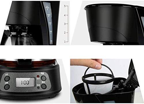 KEKEYANG Café Machine à café filtre, 0.6L Capacité Cafetière programmable 24hr minuterie avec écran LCD, 600W réutilisable filtre lavable Machine