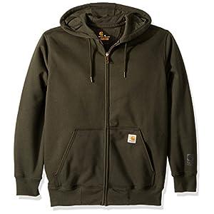 Carhartt Men's Rain Defender Paxton Heavyweight Hooded Zip Front Sweatshirt