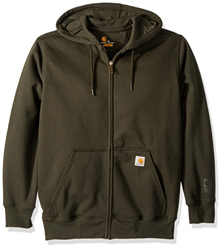 Carhartt Heavyweight Hooded Zip Sweatshirt - Carhartt Men's Rain Defender Paxton Heavyweight Hooded Zip Front Sweatshirt, peat, Large