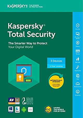 Kaspersky Total Security 2018 3 Device/1 Year [Key Code] (3-Users)