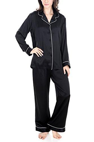 OSCAR ROSSA Women's Luxury Silk Sleepwear 100% Silk Pajamas Set by