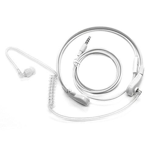 Mic Headphones Covert Acoustic Tube Throat Earpiece Headset