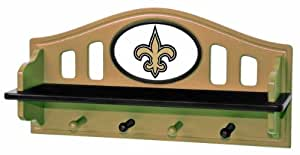 New Orleans Saints Shelf With Pegs