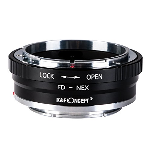 K&F Concept Lens Mount Adapter FD to NEX Copper Adapter Compatible with Canon FD FL Lens Compatible with Sony NEX E-Mount Camera