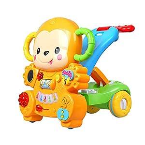 NOLLY Andador Mono Caminante del bebé Sentado y de Empuje 3-en-1 ...