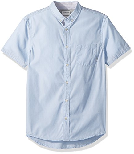 Button Quiksilver Shirt Up - Quiksilver Men's Valley Groove Short Sleeve Woven, Dusk Blue, M