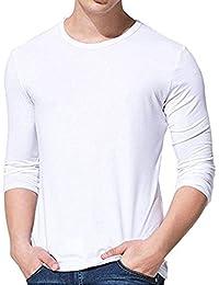 Men's Long Sleeve T-Shirt Men's Solid Cotton T Shirt Premium Comfort Soft T-Shirt
