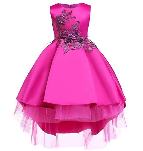 M-Sea Flower Big Little Girls Formal Party Dress Kids Wedding Bridesmaid Pageant Birthday Toddler PrincesshHoliday Dresses -