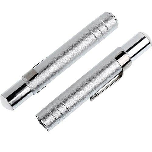 Willbond 2 Pieces Adjustable Chalk Holder Aluminium Alloy Chalk Clip Clutch for School Office, 9.5 by 1.5 cm, Silvery ()