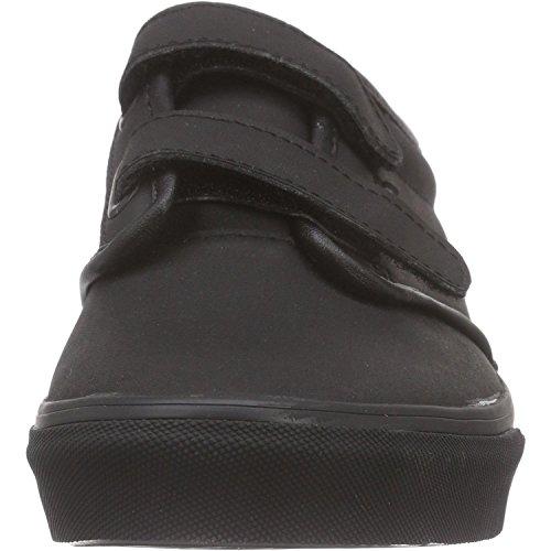 Vans Atwood V Junior Triple Black Leather Trainers Triple Black
