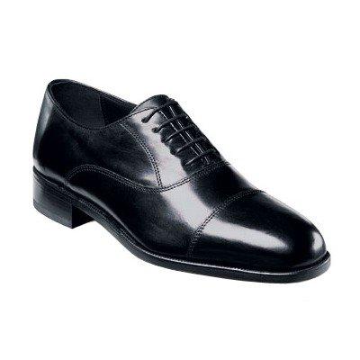 Edgar Leather (Florsheim Men's Edgar Cap Toe Oxford Black Leather Oxford 10.5 3E)