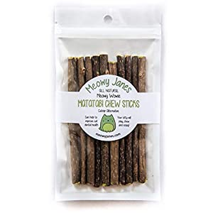 Meowy Janes Matatabi Chew Sticks - An All Natural Silvervine Cat Toy and Cat Treat - Catnip Alternative 1