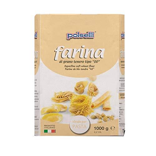 Harina Polselli 00 ideal para pasta - Kg. 1 - Paquete 10 Piezas: Amazon.es: Alimentación y bebidas