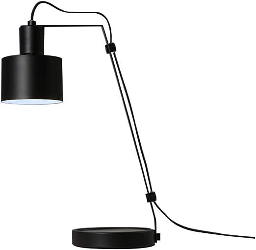LIZHIQIANG Lámpara De Mesa, para Leer Dormitorio Estudio, Mesa De Trabajo Lámpara De Mesa De Trabajo Lámpara De Lectura De Oficina, Puede Disipar El Calor, 2 Colores Opcionales (Color : Negro): Amazon.es: