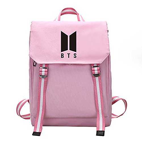 Handbag Printing Boy Girl Kpop Schoolbag Rose Backpack For Shoulder Character Red Canvas Bts EzEqBw0