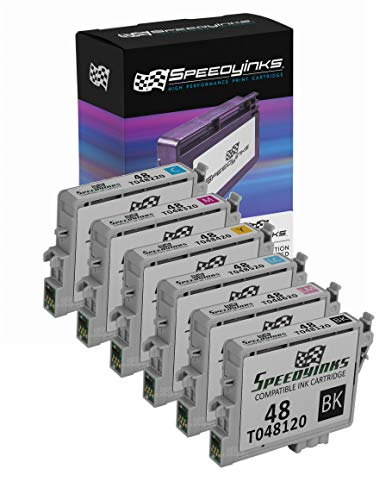 Speedy Inks Remanufactured Ink Cartridge Replacement for Epson 48 (1 Black, 1 Cyan, 1 Magenta, 1 Yellow, 1 Light Cyan, 1 Light Magenta, 6-Pack)