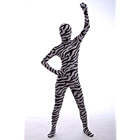 - 41nwV2JO4NL - Halloween Cosplay Full Bodysuit Animal Pretend Play Zebra Dress Up Zentai Costume