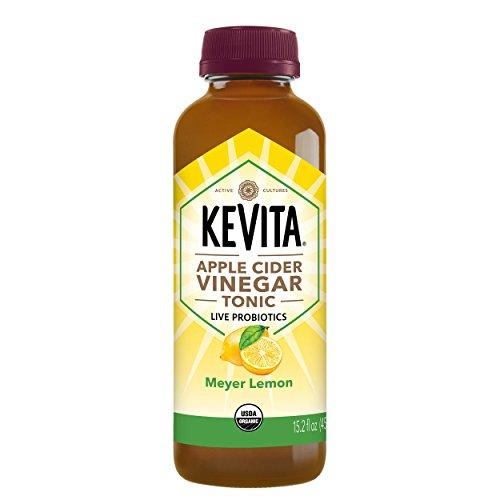 KeVita Apple Cider Vinegar Tonic, Meyer Lemon, with Live Probiotics, 15.2 oz.