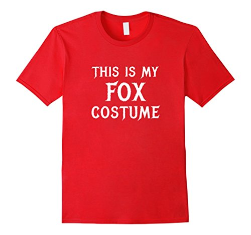 Male Red Fox Costume (Mens Fox Costume Halloween Shirt Cute Funny Gift XL Red)