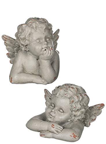 Sullivans Resin Cherub Figurines, Set of 2 Assorted