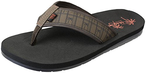 Brown Flop 8 Panama to Casual Print Men's Sport Size Flip Sandals 13 Time Classic Jack Beach w1SwFHq