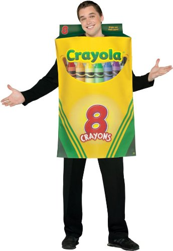 Crayola Crayon Box Costume - One Size - Chest Size 48-52 (Crayola Costumes For Adults)