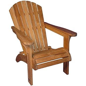 Amazon Com Teak Adirondack Chair Outdoor Patio Teak