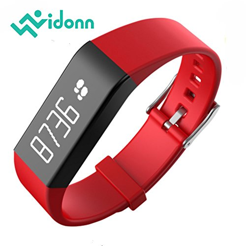 Vidonn Smart Pulse Band Bracelet A6 ,Advanced heart-rate, IP68 Water Resistant Activity Trackers with OLED Touch Screen, Bluetooth 4.0 Pedometer, Wristband, Sleep Monitor, Call/MSM Reminder for Android/ iOS Smartphone