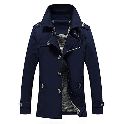 Outerwear Tops Casual Dark Coat Jacket Blue Men's HqIExOfwn