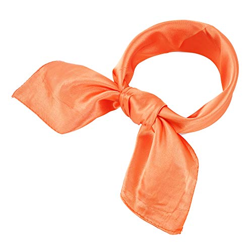 YOUR SMILE 100% Silk Scarf Women's Fashion Pattern Large Square Satin Headscarf Headdress 24''x24'' (311)
