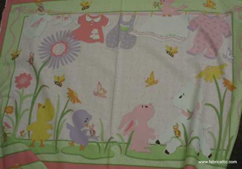 Emma Louise crib quilt panel by Shery Berry Lyndhurst flannel fabric (Studio Lyndhurst)