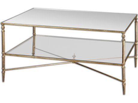 Incroyable Uttermost Henzler Mirrored Glass Coffee Table