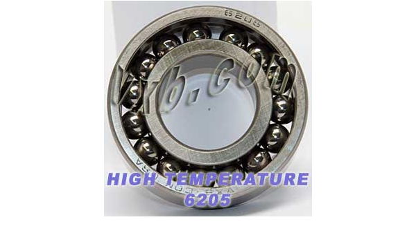 S6205ZZ Bearing High Temperature 500 Degrees 25x52x15 Stainless Steel Ball 17780