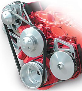March Performance 2203109 Silver Serpentine Conversion Kit for Small Block Chevy Engine by MARCH (Image #1)
