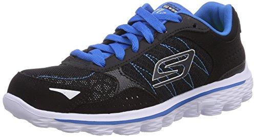 Skechers GO Walk 2Flash - zapatilla deportiva de material sintético niño negro - Schwarz (BKBL)