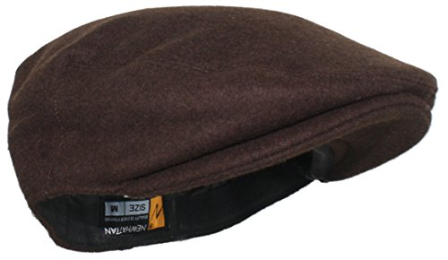 (Ted and Jack - Street Easy Felt Newsboy Driving Cap with Plush Lining in Brown Size)