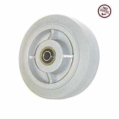 "Colson Soft Performa TPE Rubber 6"" x 2"" Wheel 1/2"" ID Precision Ball Bearing"