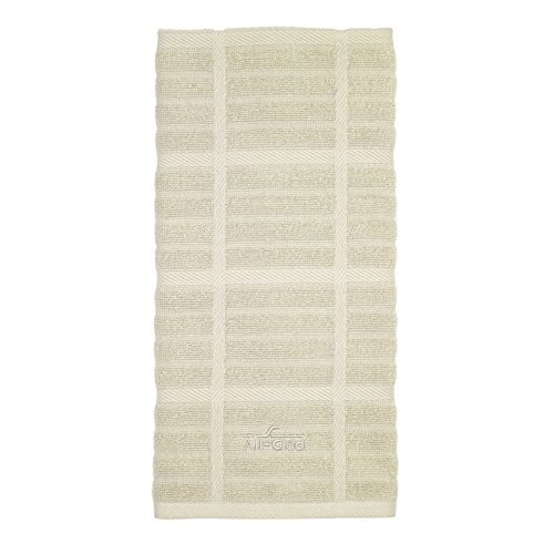 All-Clad Textiles 100-Percent Combed Terry Loop Cotton Kitchen Towel, Oversized, Highly Absorbent and Anti-Microbial, 17-inch by 30-inch, Solid, Almond